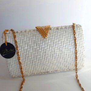 VTG Rodo Italy Wicker  Clutch Crossbody Bag